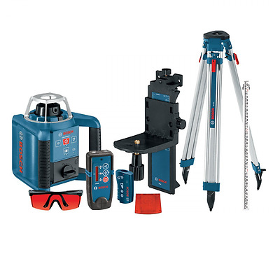 Bosch GRL300HVCK Self-Leveling Rotary Laser with Layout Beam Complete Kit with R