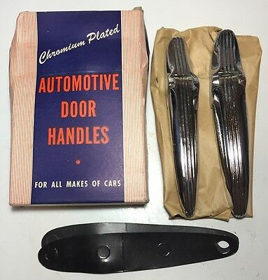 NOS Antique PAIR OF 1937 FORD DELUXE 2 & 4 DOOR Auto Trunk Hinges IN BOX