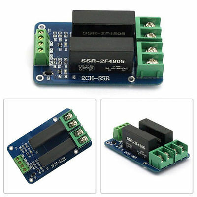 2 Channel SSR-2F Solid State Relay 3V-32V 5A For Arduino UNO Isolation Voltage