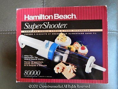 HAMILTON BEACH Supershooter Cordless Cookie Press & Food Decorator 8000