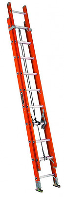 Louisville Ladder FE3232 32-Foot Fiberglass Extension Ladder, 300 Pound Capacity