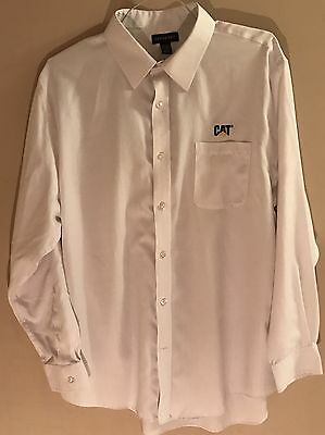 Caterpillar Tractor Long Sleeve Dress Shirt 17 1/2 X 35