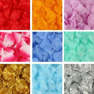 100-2000pcs Silk Rose Flower Petals Engagement Wedding Decoration Confetti Table