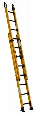 DeWalt DXL3420-16PG Fiberglass Extension Ladder Type IAA, 375-Pound Duty Rating,