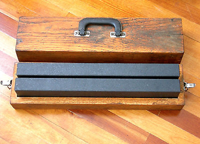"""Matched pair of 18"""" Starrett Granite Parallels, 4 face for surface plate work"""