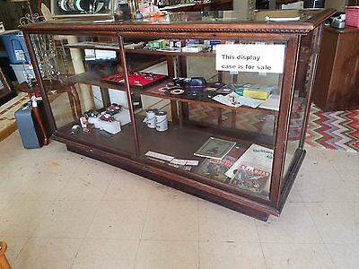 OAK Wood General Store Showcase Beveled Glass 6 foot long Display