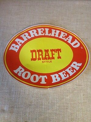 "Vintage 11"" Barrelhead Draft Root Beer Decal"