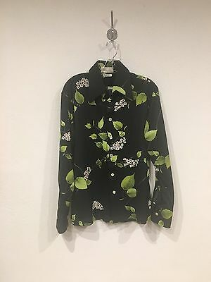 Vintage 70s 80s D'Avila Button-Down Floral Shirt Medium EUC