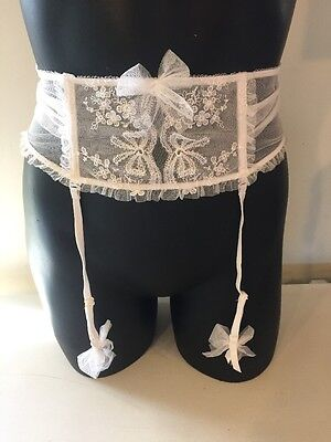 Victoria's Secret I Do Wedding White Garter Belt Lace XS/S