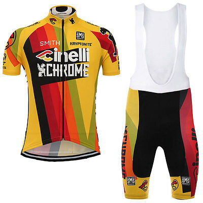 Men Bike Cinelli 2017 Equipacion Jersey maglie Bib Shorts Cycling Ropa Ciclismo