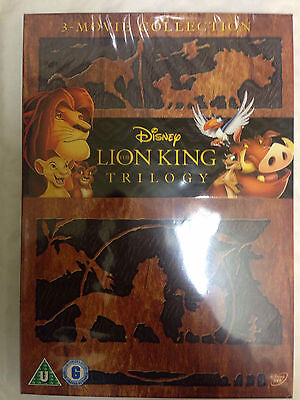 The Lion King 1-3 Complete Trilogy Region 2 UK DVD Free UK P&P 1 2 3