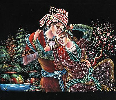 Beautiful Hand Painted Traditional Persian Painting In The Miniature Style