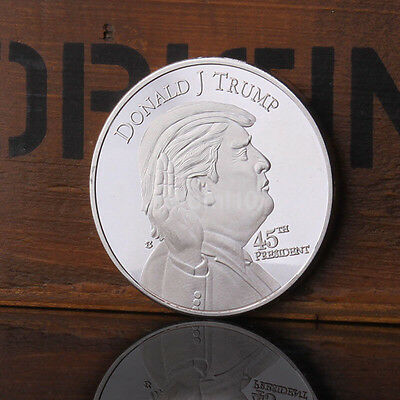 United State Donald J. Trump 45th President Silver Plated Round Coin Hot US