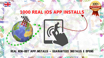 1000 Real guaranteed US / UK GEO Targetted iOS App Installs