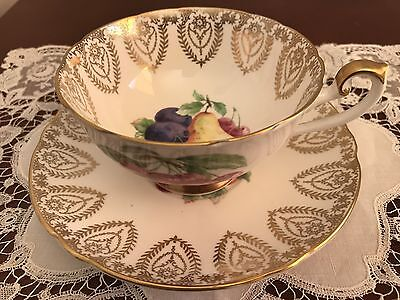 Vintage Shelley Lincoln Cup and Saucer 'Pear Fruit Centre'0679