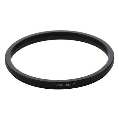 62mm-58mm 62mm to 58mm Black Step Down Ring Adapter for Camera T8O7