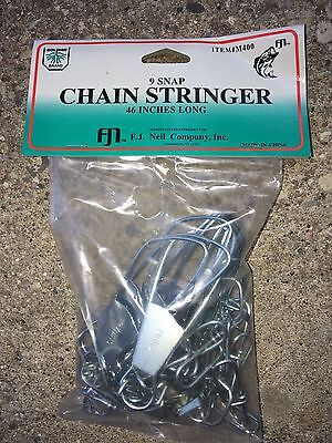 "12 Dolphin Tackle 9-snap chain stringers 46"" long fishing"