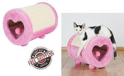 Cat Furniture and Scratchers Tree Condo Pink Kitty Bedroom House Scratch Play