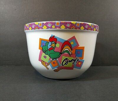 Kellogg's Corny Cereal Bowl 2002 Corn Flakes Colorful Design Used