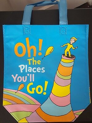 Dr. Seuss Collectible Shopper Tote Bag Cat in the Hat Places You'll Go