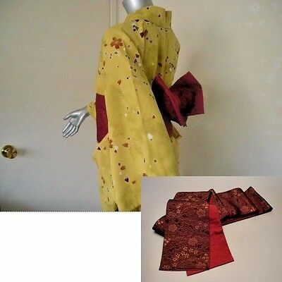 Lot of Reversible Obi & Machine Washable Komon Hitoe Kimono / Yukata