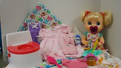 Baby Alive Real Surprises Interactive Blonde Doll with TONS of extras