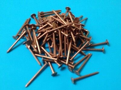 "100 x 1 1/2"" 40mm Copper Nails Round Shaft Slate Roofing or Tree Stump Killer"