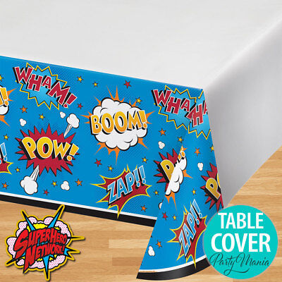 Superhero Party Supplies Plastic Tablecloth Table Cover Super Hero Birthday