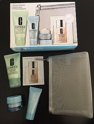 CLINIQUE RADIANCE SOLUTIONS KIT  foaming soap day & night moisturisers makeup