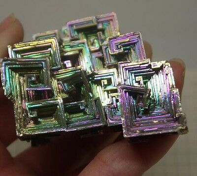 Bismuth Crystal High Quality Large Size High Purity Bi crystal color metal 120g