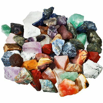 SUNYIK Natural Raw Stones Rough Rock Crystals for Tumbling,Cabbing,Assorted Ston