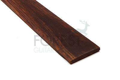 "Cocobolo guitar fretboard, fingerboard 24.75"" Gibson, slotted compound radius"