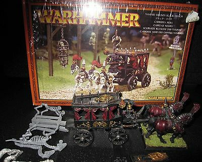 Warhammer Vampire Counts Black Coach OOP fully painted.