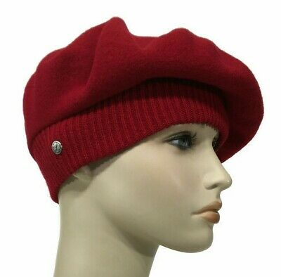 714c9af8 Laulhere French 100% Wool Hat La Parisienne Soft Red Beret Made In France 6  7