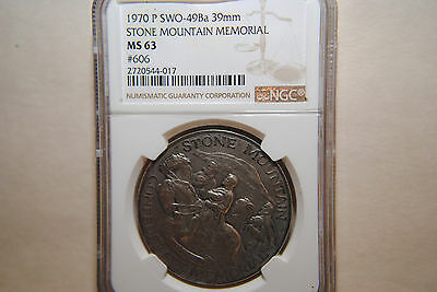 1970-P Stone Mountain Memorial, US Mint #606, NGC MS63