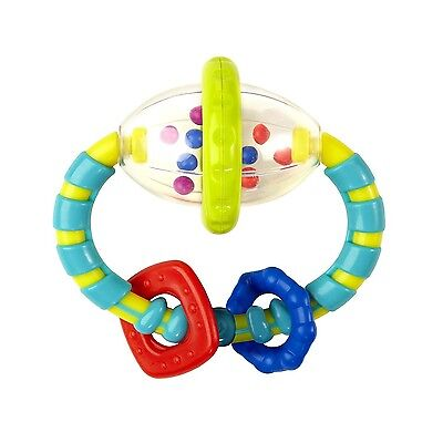 Bright Starts Grab and Spin Rattle Baby Toy Colorful hand eye coordination Toys