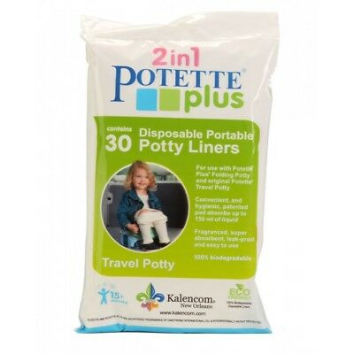 Potette Plus Portable Travel Potty Disposable Biodegradable Liners - 30 Pack