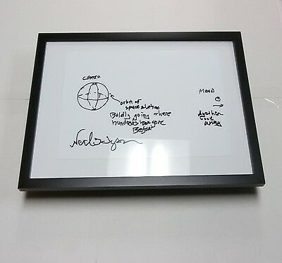 NEIL DEGRASSE TYSON Cosmos Astrophysicist Framed Solar System Sketch + Autograph