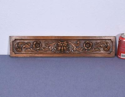 """*21"""" French Antique Panel Walnut Wood with Face Salvage"""