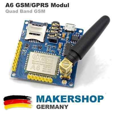 SIM900A Quad Band GSM Shield SMS GPRS Audio A6 Modul Arduino Raspberry SIM900
