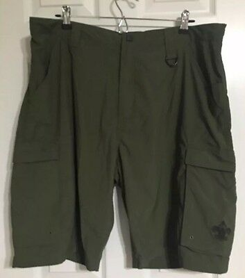 Boy Scout Of America Nylon Cargo Shorts Size Adult Relaxed Large L