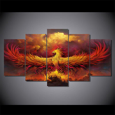 Modern Abstract Oil Painting Wall Decor Art Huge - Phoenix Gorgeous no frame