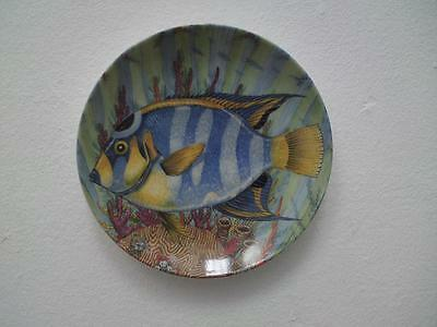 Kaiser porcelain fish wall plate W Germany Caribbean Reef by William Johnson