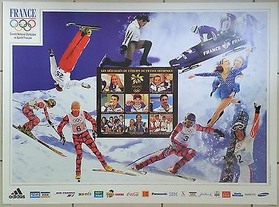 Nagano Jeux Olympiques 1998 Affiche ancienne/ski olympics original poster