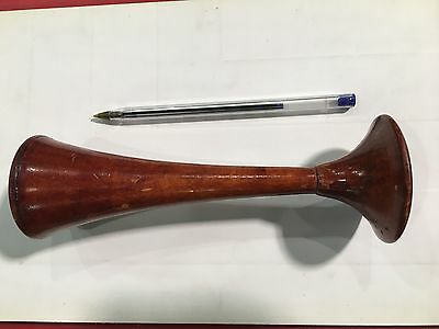 Antique Russian Doctor Pipe Wooden Red Wood STETHOSCOPE Medical Tool Instrument