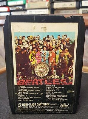 The Beatles Sgt. Pepper's Lonely Hearts Club Band 8-Track Tape New Pad Tested A+