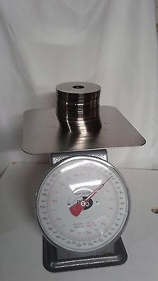Lot of 50 hard drive platters for scrap recovery or crafts 3+ lbs