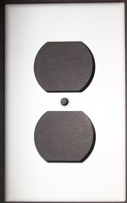 Plain white Single Outlet plate covers replacement home electrical Repair