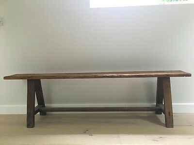 Antique Vintage Pitch Pine Bench School Bench French Barn Loft London Farm house