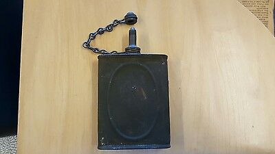 Vintage WWII Oil Can Gunners Rifle Maintenance GI Army Pocket Flask Olive Drab